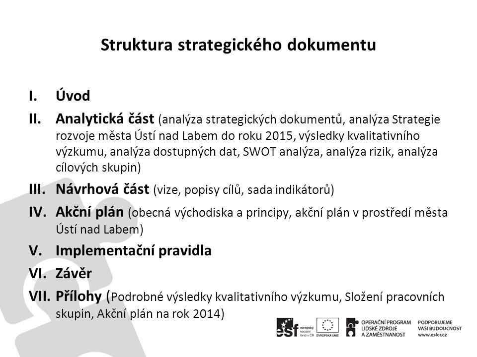 Struktura strategického dokumentu