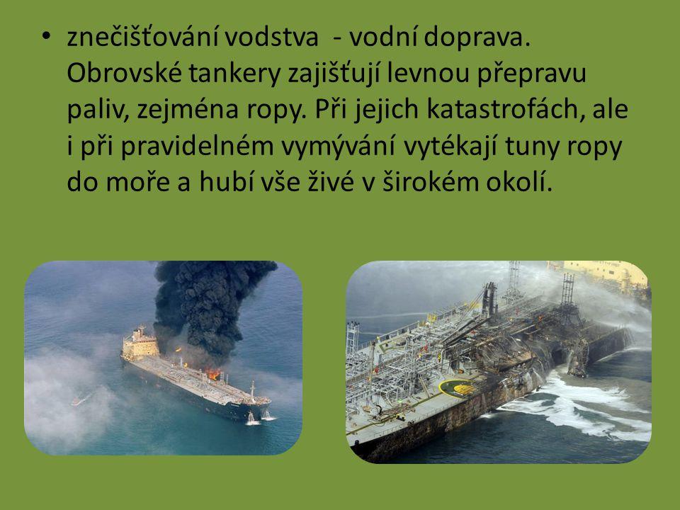 znečišťování vodstva - vodní doprava