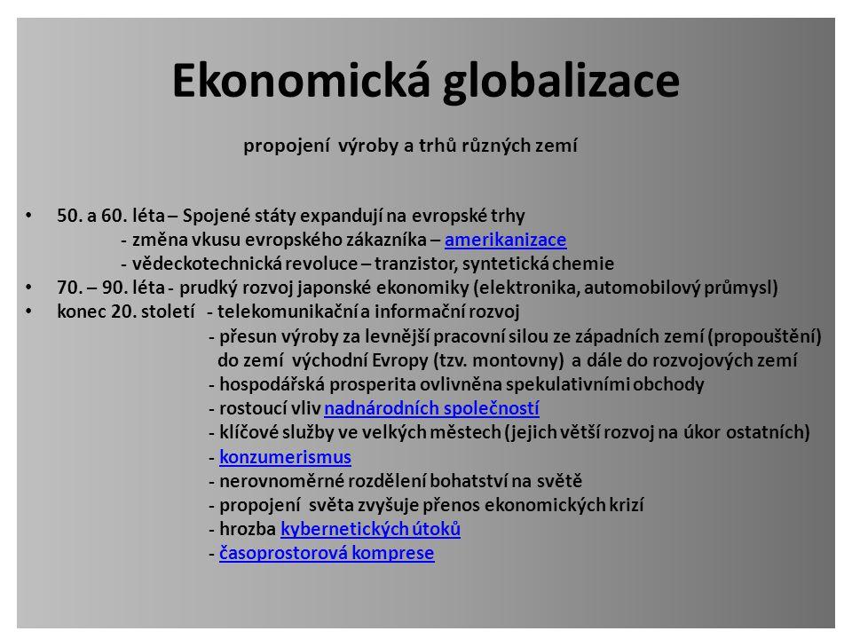 Ekonomická globalizace