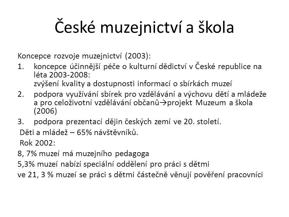 České muzejnictví a škola