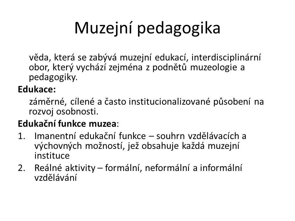 Muzejní pedagogika věda, která se zabývá muzejní edukací, interdisciplinární obor, který vychází zejména z podnětů muzeologie a pedagogiky.