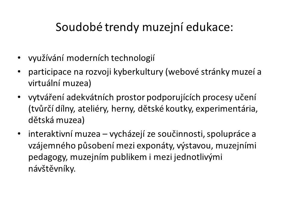 Soudobé trendy muzejní edukace: