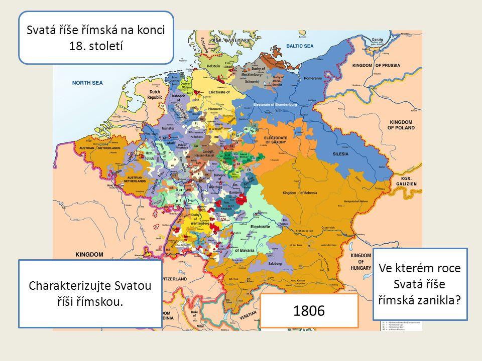 1806 Svatá říše římská na konci 18. století
