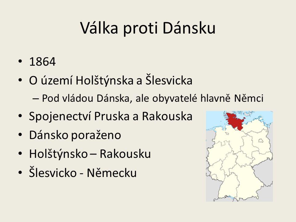 Válka proti Dánsku 1864 O území Holštýnska a Šlesvicka