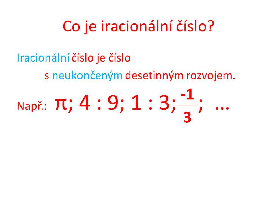 Co je iracionální číslo