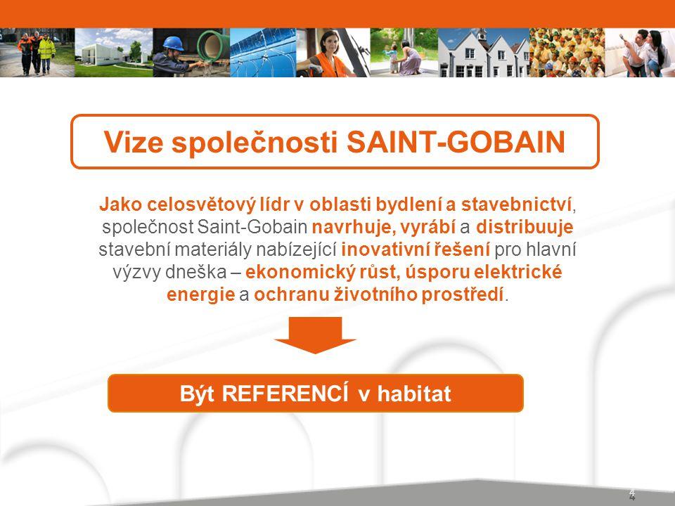 Vize společnosti SAINT-GOBAIN Být REFERENCÍ v habitat