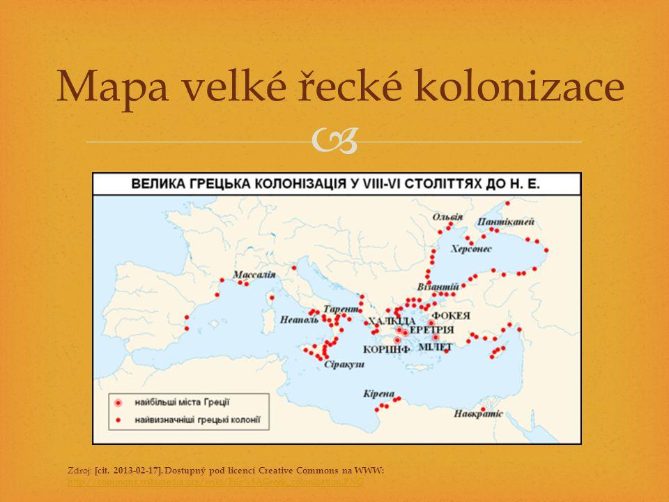 Mapa velké řecké kolonizace