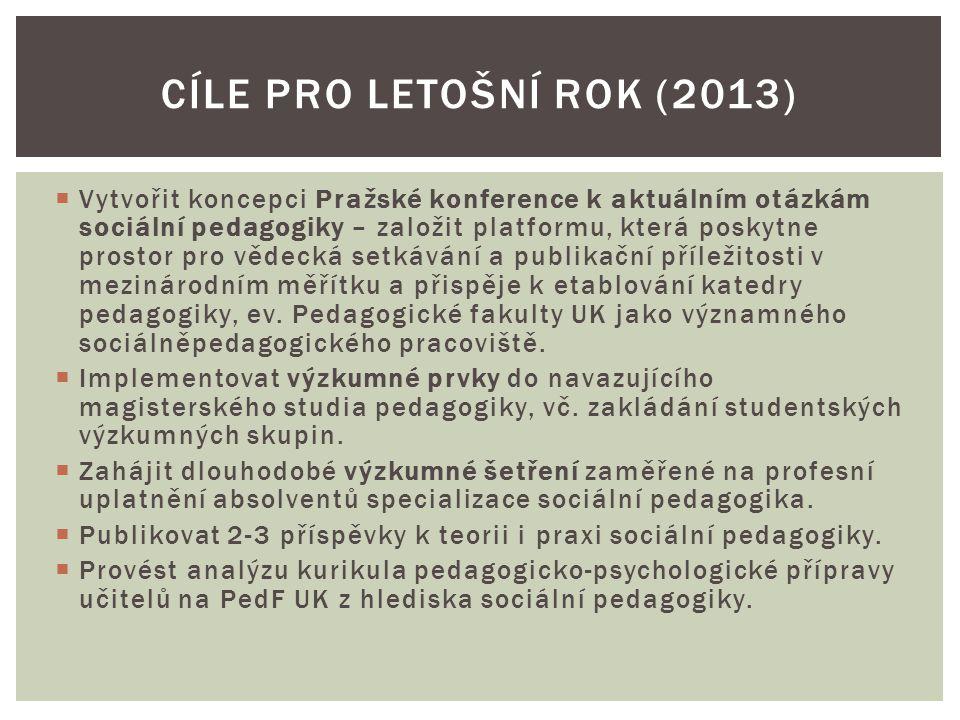 CÍLE PRO LETOŠNÍ ROK (2013)