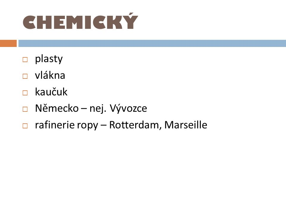 CHEMICKÝ plasty vlákna kaučuk Německo – nej. Vývozce