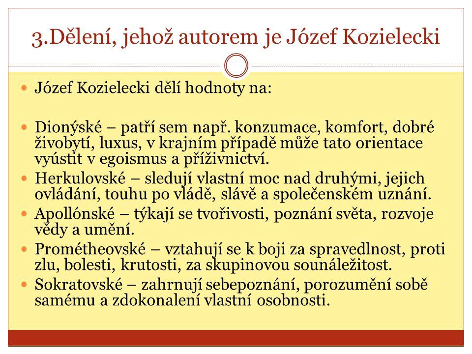 3.Dělení, jehož autorem je Józef Kozielecki