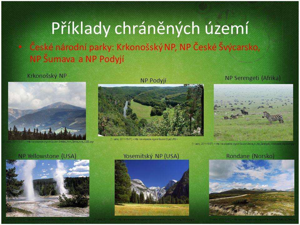 Příklady chráněných území