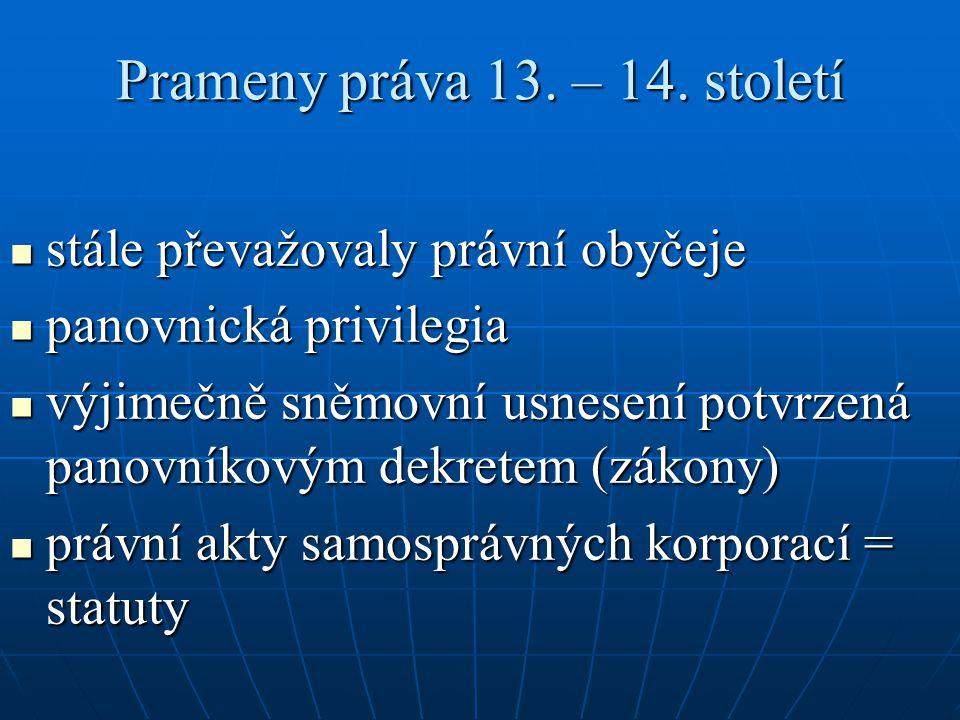 Prameny práva 13. – 14. století