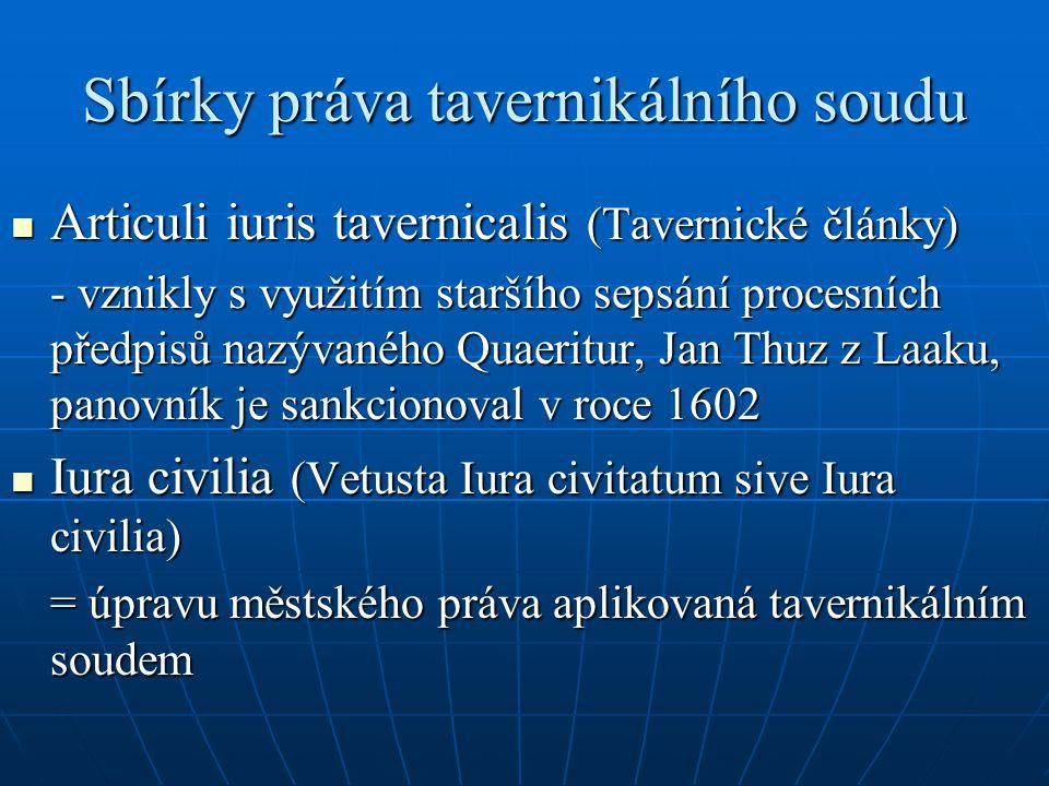 Sbírky práva tavernikálního soudu