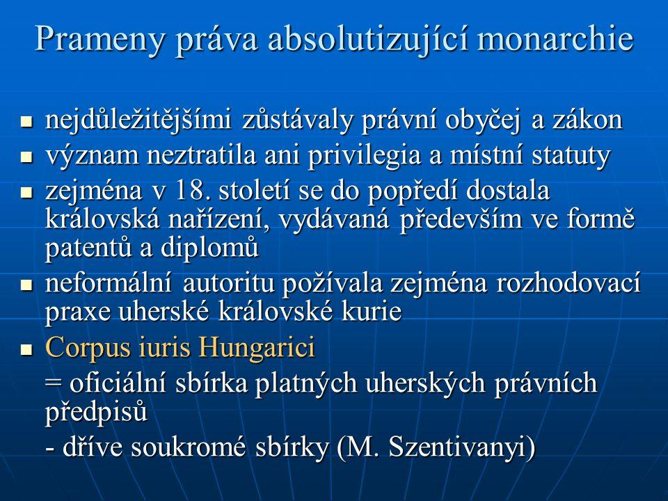 Prameny práva absolutizující monarchie