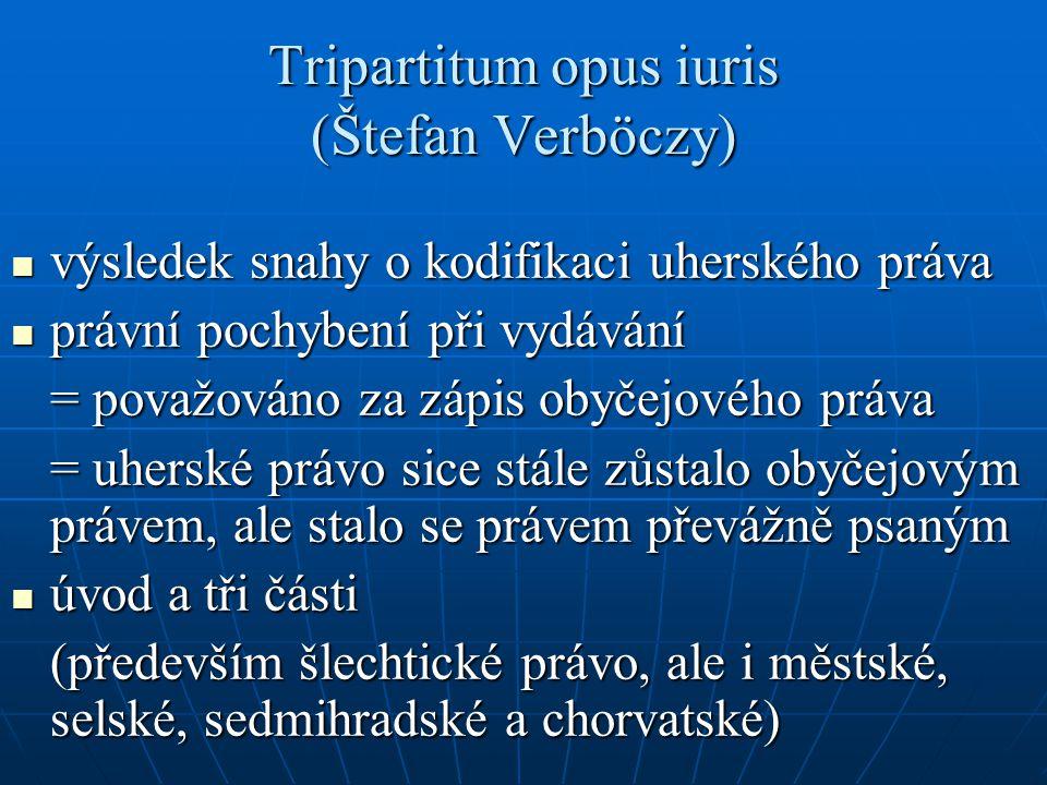 Tripartitum opus iuris (Štefan Verböczy)