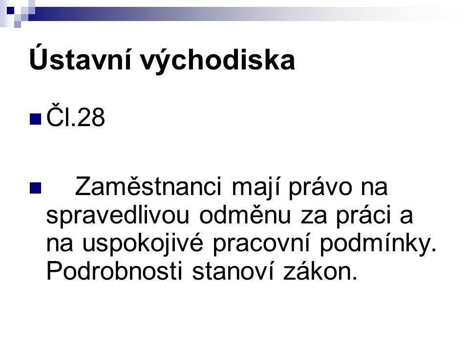 Ústavní východiska Čl.28.