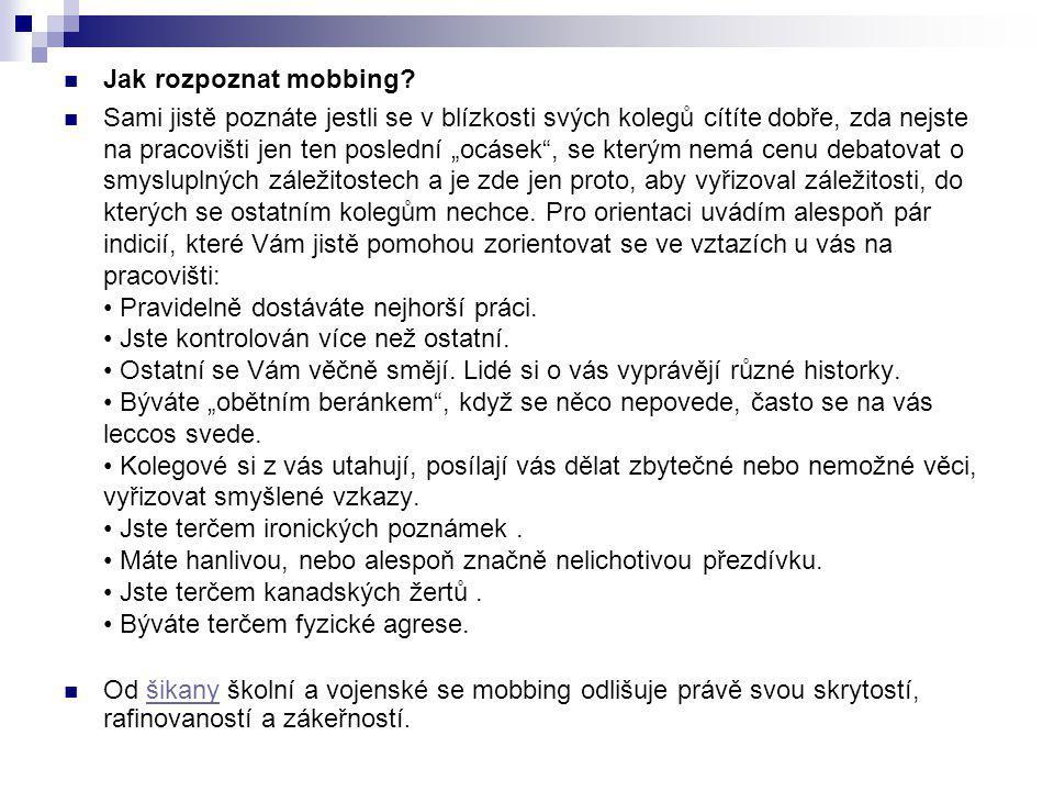 Jak rozpoznat mobbing