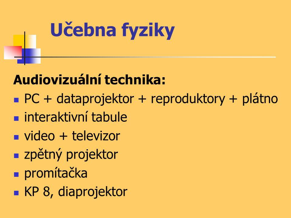 Učebna fyziky Audiovizuální technika: