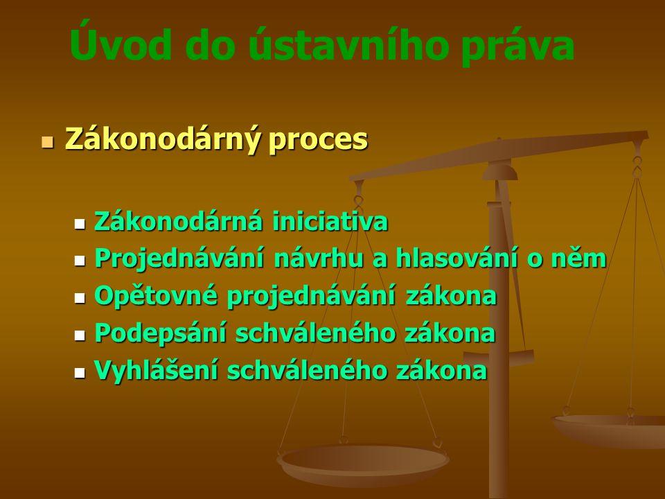 Zákonodárný proces Zákonodárná iniciativa