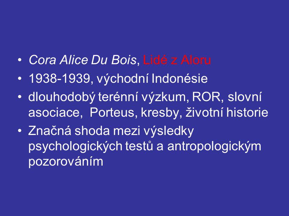 Cora Alice Du Bois, Lidé z Aloru