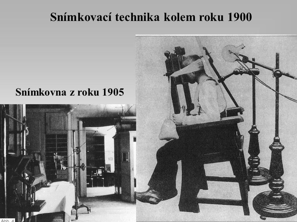 Snímkovací technika kolem roku 1900
