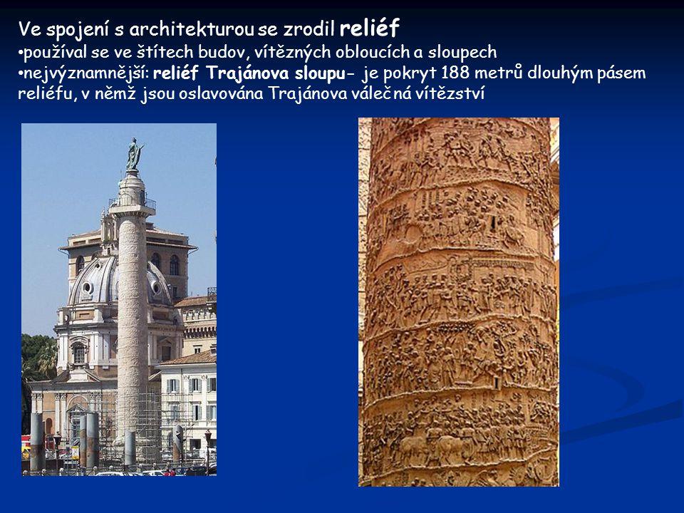 Ve spojení s architekturou se zrodil reliéf