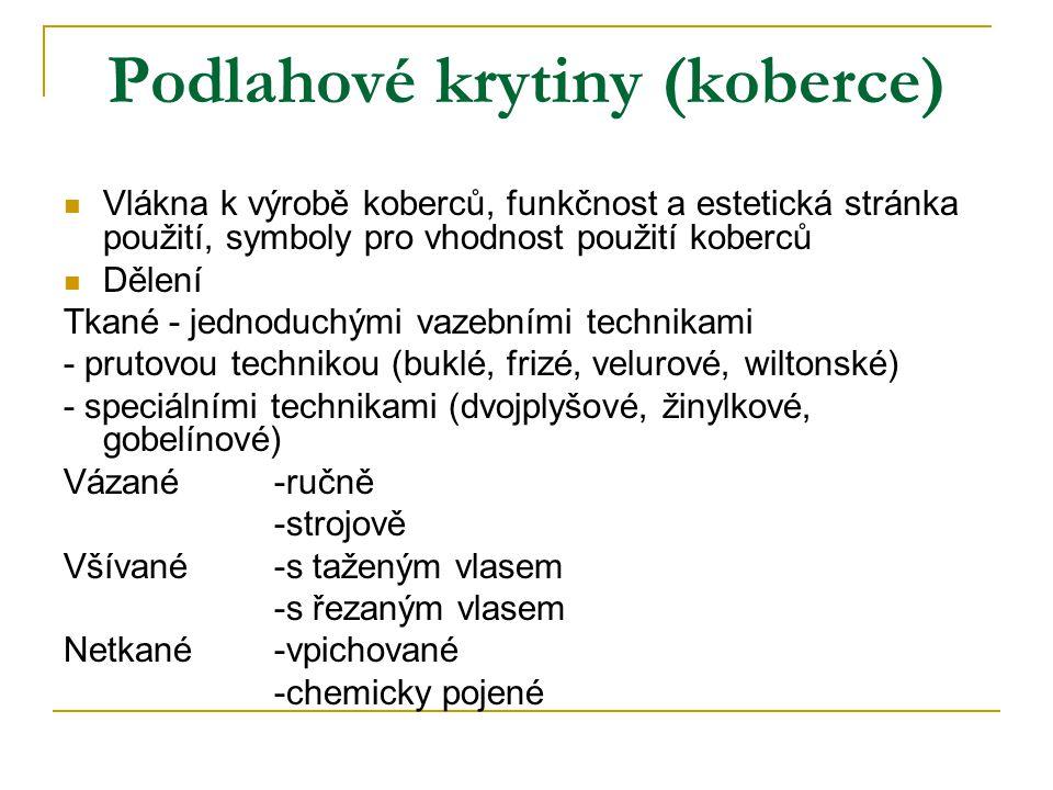 Podlahové krytiny (koberce)