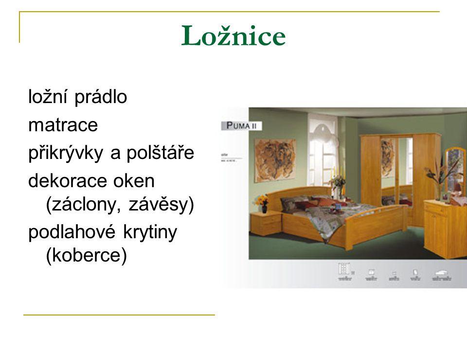 Ložnice ložní prádlo matrace přikrývky a polštáře