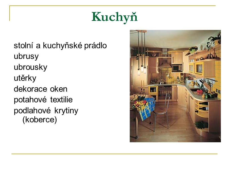 Kuchyň stolní a kuchyňské prádlo ubrusy ubrousky utěrky dekorace oken