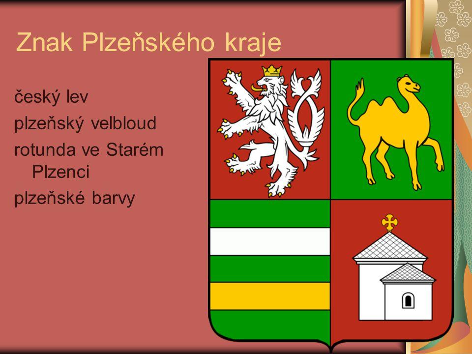 Znak Plzeňského kraje český lev plzeňský velbloud