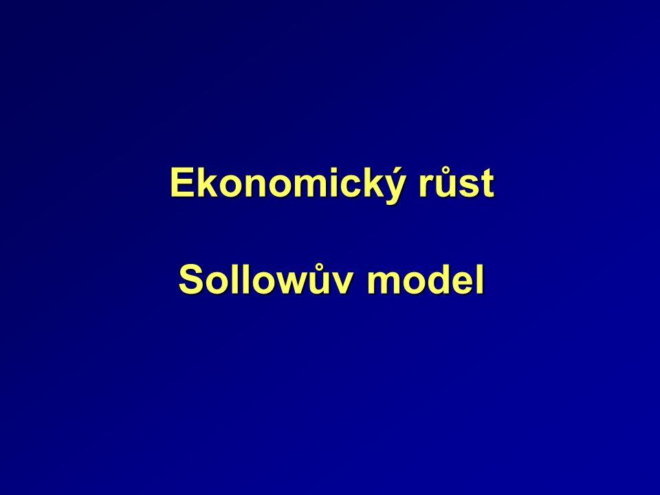 Ekonomický růst Sollowův model