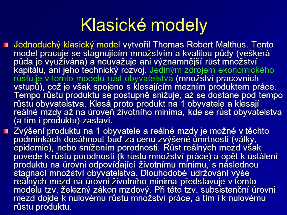 Klasické modely