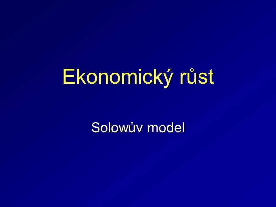 Ekonomický růst Solowův model