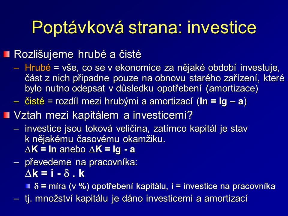Poptávková strana: investice