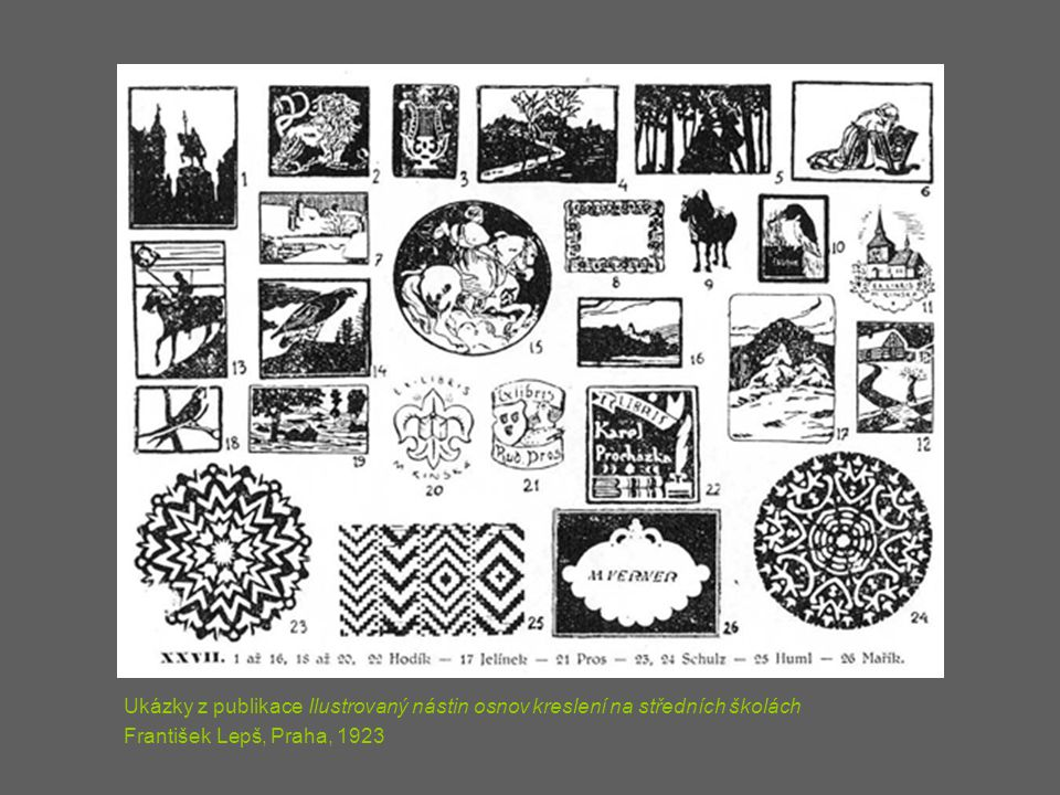Ukázky z publikace Ilustrovaný nástin osnov kreslení na středních školách