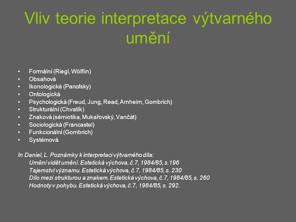 Vliv teorie interpretace výtvarného umění