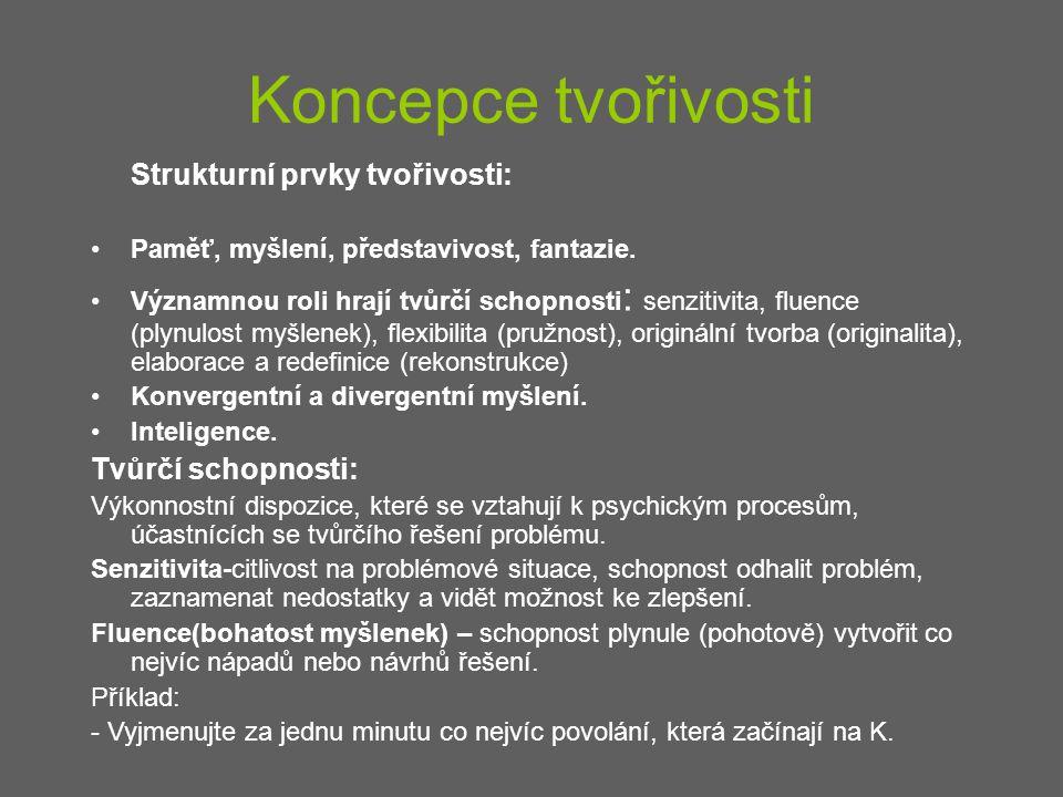 Strukturní prvky tvořivosti: