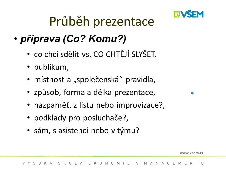 Průběh prezentace příprava (Co Komu )