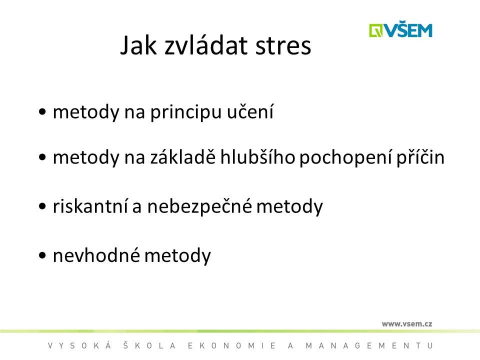 Jak zvládat stres metody na principu učení