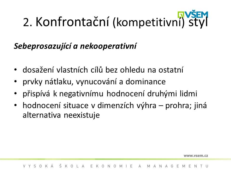2. Konfrontační (kompetitivní) styl
