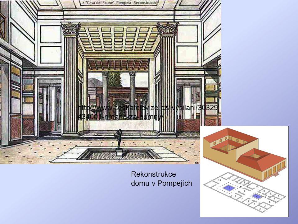 http://www.ceskatelevize.cz/ivysilani/30329434001-rimane-za-humny/ Rekonstrukce domu v Pompejích