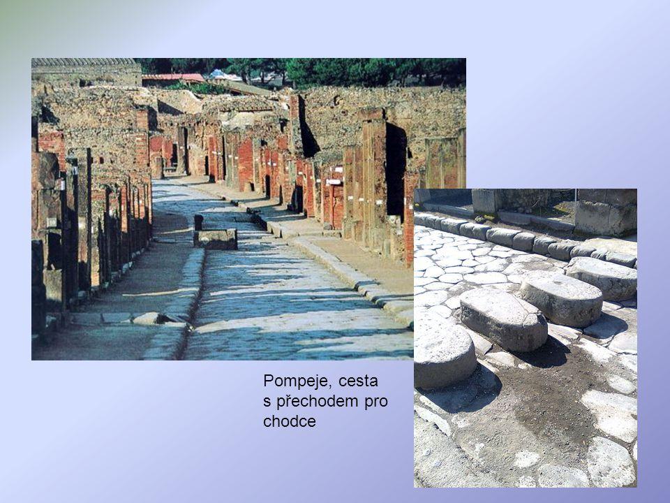 Pompeje, cesta s přechodem pro chodce