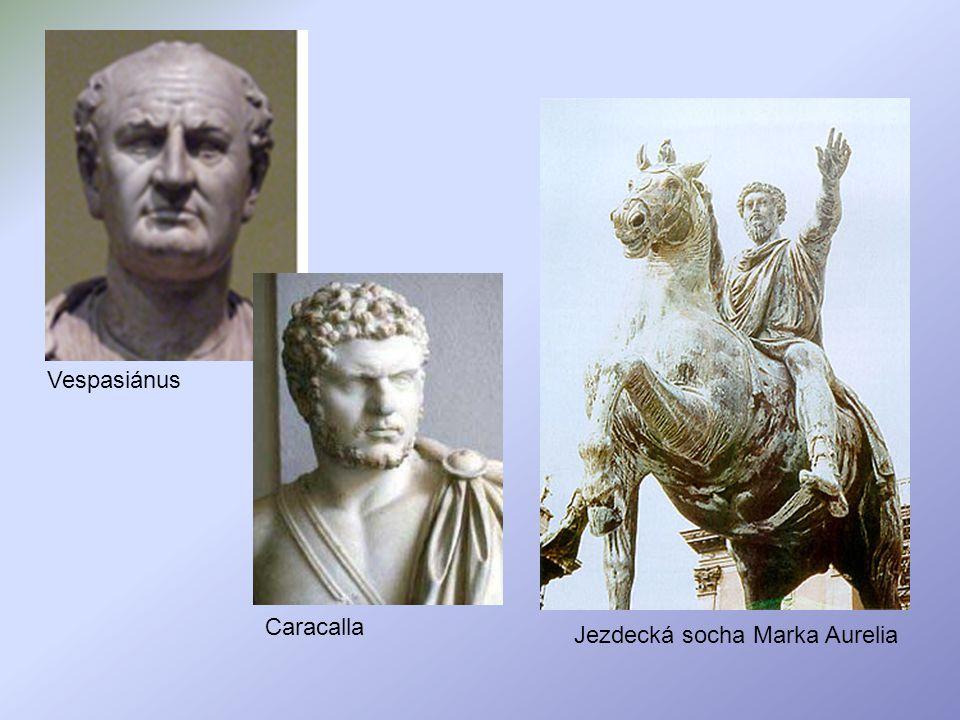 Vespasiánus Caracalla Jezdecká socha Marka Aurelia