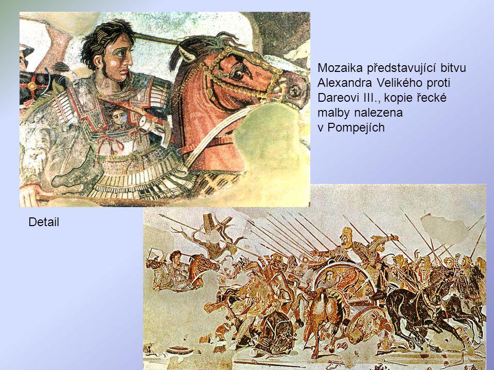 Mozaika představující bitvu Alexandra Velikého proti Dareovi III