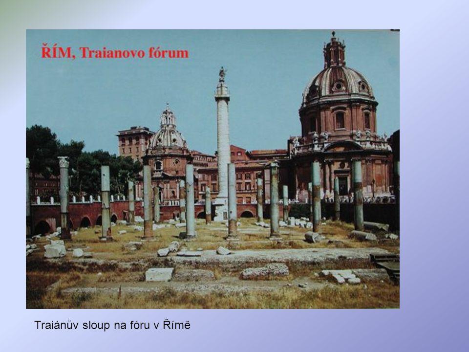 Traiánův sloup na fóru v Římě