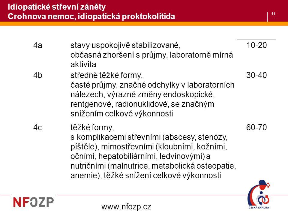 Idiopatické střevní záněty Crohnova nemoc, idiopatická proktokolitida