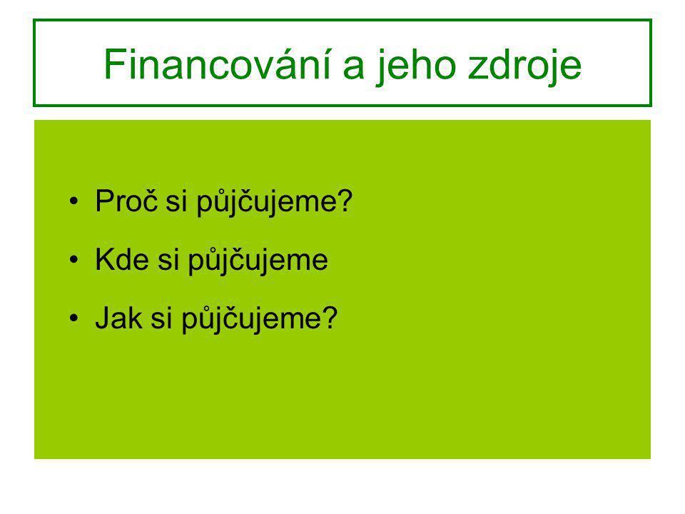 Financování a jeho zdroje