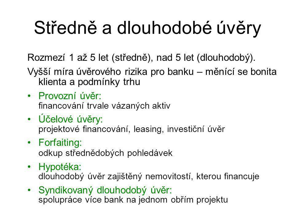 Středně a dlouhodobé úvěry
