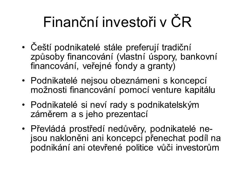 Finanční investoři v ČR