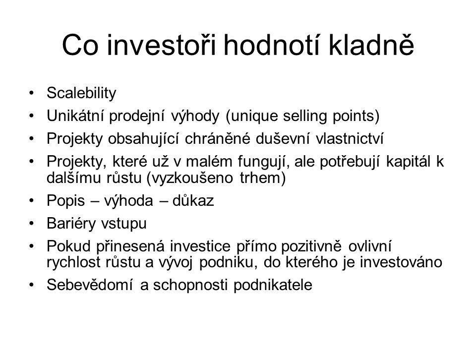 Co investoři hodnotí kladně